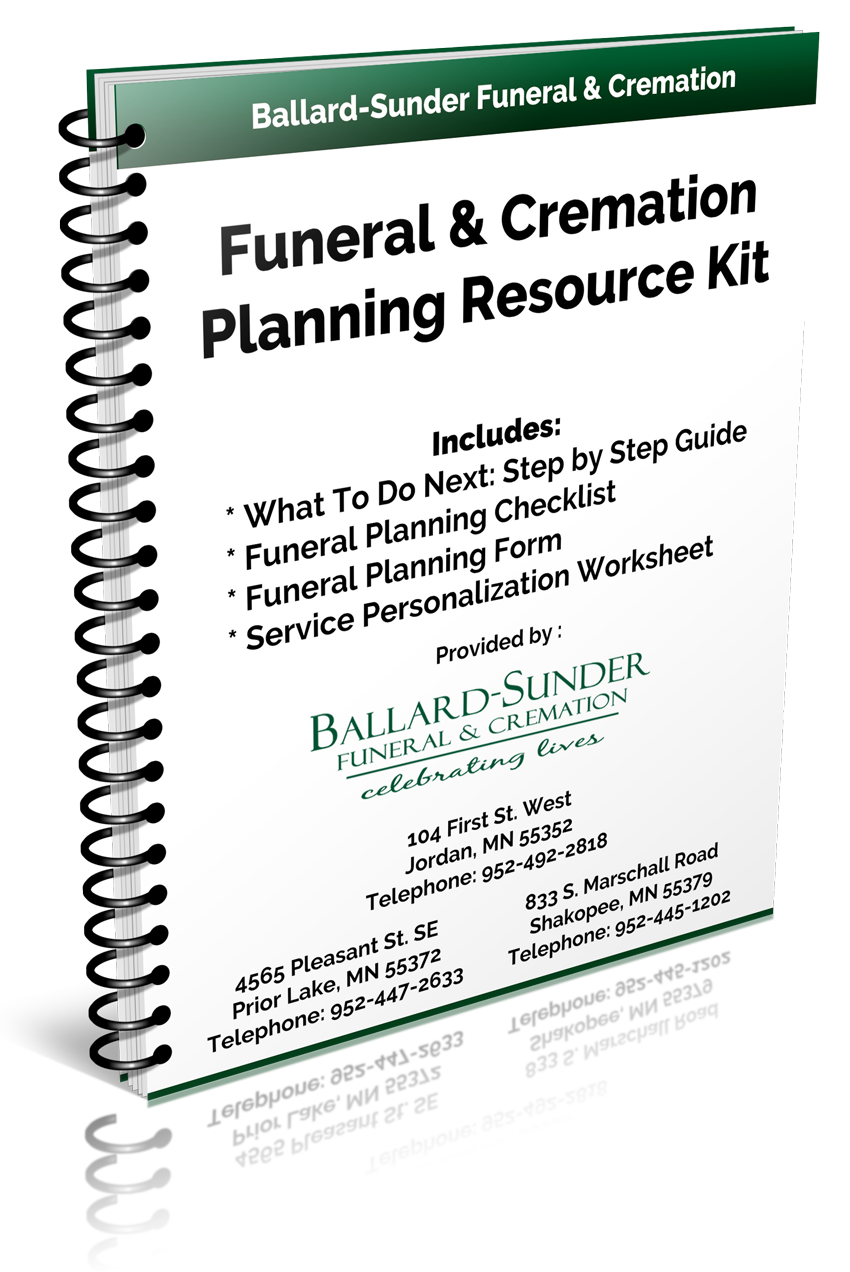 worksheet Pre Planning Funeral Worksheet resource kit ballard sunder funeral cremation jordan mn