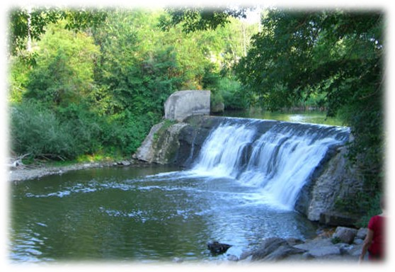 Waterfall in Lagoon Park - Jordan, MN